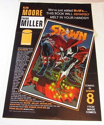 "1992 Spawn A. Moore and F. Miller 17"" x 26"" McFarlane Promo Poster for Issue #8"