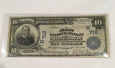 1902 First National Bank of Minneapolis Date Back