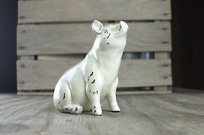 """6"""" Farmhouse Rustic Pig Statue Figurine Resin Country Decor ((NEW))"""