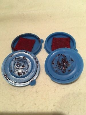 Count Chocula & Boo Berry Stampers Monster Cereal VTG Blue