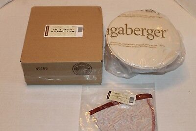 """Longaberger New In Box 9"""" Inch Bowl Base Lid Protector Set Proudly America Liner"""
