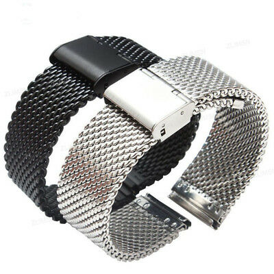 Mesh Stainless Steel Bracelet Wrist Strap 20 22mm Milanese Watch Band Link