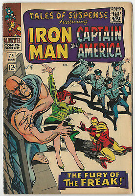 Marvel's TALES OF SUSPENSE #75 - March 1966  -  First Batroc - First Agent 13