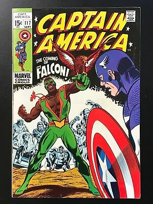 CAPTAIN AMERICA #117 (1969) High Grade Key! 1st App Falcon VF+