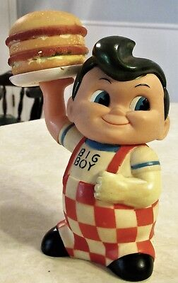 Vintage Big Boy Serving Hamburger Restaurant Advertising Coin Bank