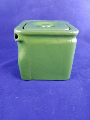 1921 GEORGE CLEWS GREEN The CUBE TEAPOT 2 CUP ART DECO ENGLAND
