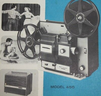 Bell & Howell Model 456 Autoload Super 8mm Film Movie Projector Owners Manual
