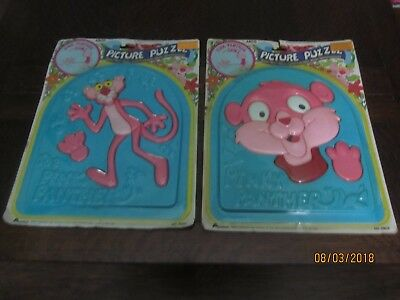 Pink Panther & Sons Giant Picture Puzzles Set of 2 - RARE - New On Cards