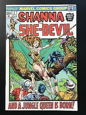 SHANNA the SHE-DEVIL #1 (1972) High Grade Key! VF