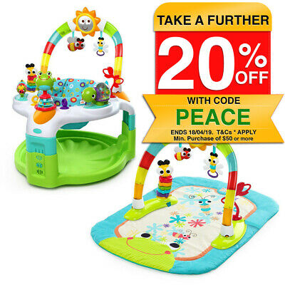 Bright Starts 2in1 Baby/Infant Lights Activity Gym Mat Toy & Chair Seat Saucer