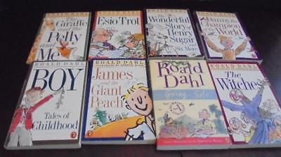 Roald Dahl Lot of 8 Kid's Books Going Solo, Boy, The Witches, Esio Trot More VGC