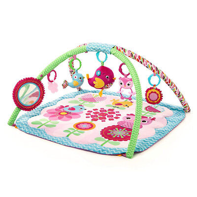 Bright Starts Sweet Treats Baby/Infant/Toddler Activity Gym/Mat w/ Toys/Mirror