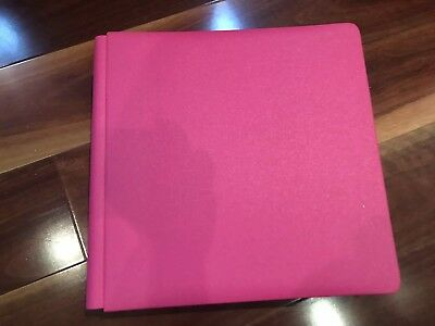 creative memories album 12x12 Pink With 45 White Pages & Protectors