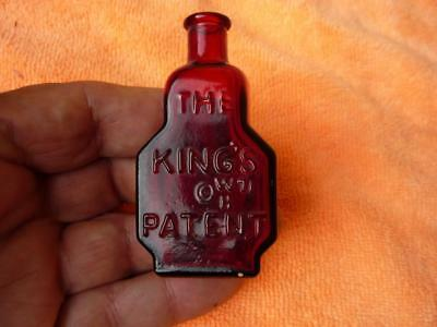 Vintage Wheaton Miniature The Kings Patent  Balsam of Life Bottle