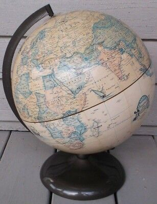Vintage Style Rand Mcnally 12 Inch Diameter Terrestrial World Globe/made In Usa