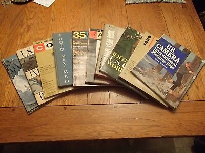 Photography Yearbook Annual vintage 50's & 60's, hard back and magazine lot