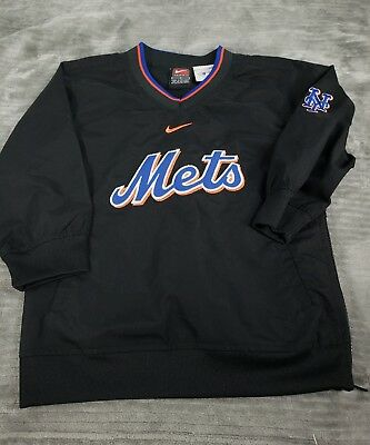 Vintage Nike  New York Mets Toddler Kids Boys pullover Sz 4 Embroidered euc