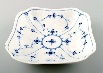 Rare and antique Royal Copenhagen Blue fluted bowl. Early / mid 19 c.