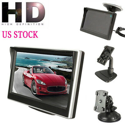 """5"""" 800*480 TFT LCD HD Screen Monitor for Car Rear Reverse Rearview Backup Cam US"""