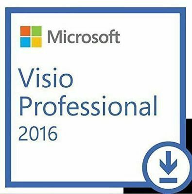 "Microsoft Visio 2016 Professional Pro LICENSE & DOWNLOADABLE LINK+""Limited ""++"