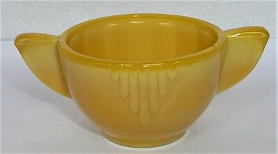 Akro Agate Large Interior Panel Yellow Sugar ~ Children's Tea Set