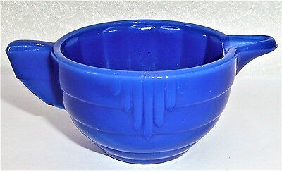 Akro Agate Child Tea Set Large Disc & Panel Royal Blue Creamer