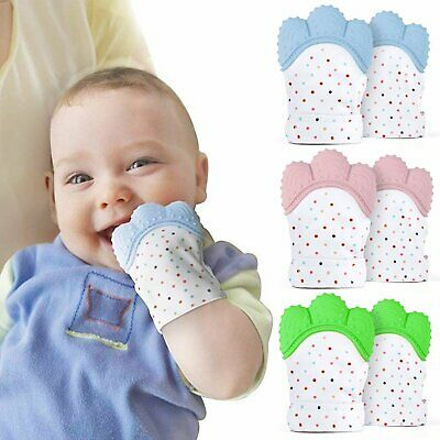 1/2pcs Silicone Baby Teething Mitt Teether Mitten Glove Safe BPA Chew Dummy Toy