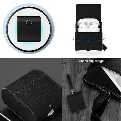 PU Leather Qi Wireless Charging Case Adapter Cover Box For iPhone X XS AirPods