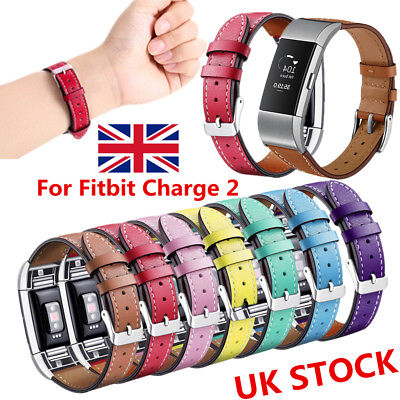 For Fitbit Charge2 Strap Band Leather Strap Adjustable Replacement Wristband NEW