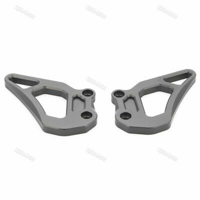Grey Foot Peg Heel Guard Plate Guard For R1200GS LC 2013-2016/Adventure 14-16 KY