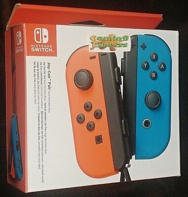 Official Nintendo Switch Joy-Con Controller Pair Neon Red Neon Blue NEW SEALED