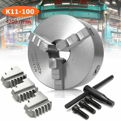 K11-100 Lathe Chuck 3 Jaw Self Centering Reversible CNC Milling Rotary Axis 100m