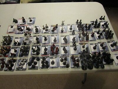 Star Wars miniatures 20 misc droids minis with cards,