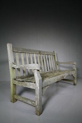 1920's Teak Garden Bench by Hughes Bolckow for Heals London