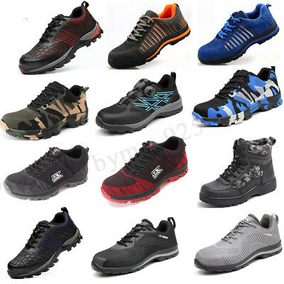 AtreGo/GT Men Steel Toe Safety Shoes Bulletproof Indestructible Working Boots