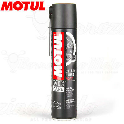 GRASSO LUBRIFICANTE SPRAY CHAIN LUBE ROAD MOTUL C2 400ml CATENA MOTO STRADA
