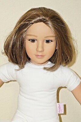"My Twinn Doll 23"" Medium Brown Dark Blonde Hair Brown Eyes Freckles 1996"