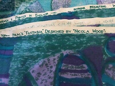 Heal's Vintage Fantasia fabric material Nicola Wood design in V&A collection