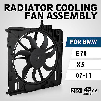 HQ Engine Radiator Cooling Fan Assembly 17427598740 fitBMW E70 X5 07-10 Sell