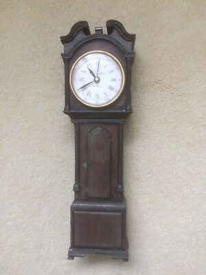 Miniature Resin Grandfather Clock/battery Operated