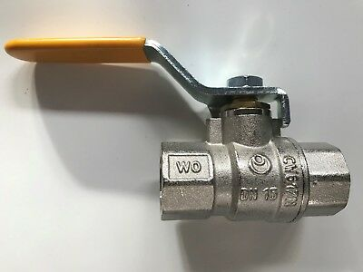 "1/2"" Female BSPT Ball Valve - GAS, AIR & WATER USE - Lever Handle"