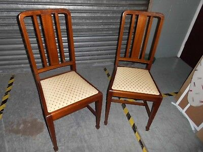 2 matching edwardian dining chairs