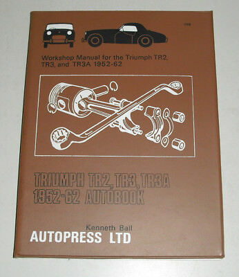 Repair Manual Triumph Tr 2 / Tr 3 / Tr 3A, Year of Construction 1952 - 1962