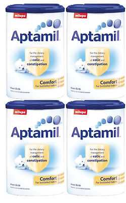 4 x Aptamil Comfort Easy Digest Infant Milk Powder Birth Onwards Stage 1 900g