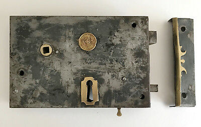 A Victorian Steel Rim Lock c1900 by Badger and Co