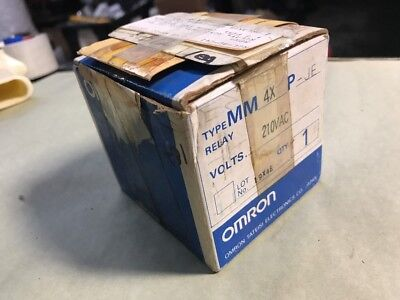 NEW Omron 8-Pin Relay Auxiliary MM4XP-JE Coil 210VAC FAST SHIPPING