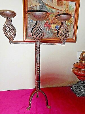Beautiful hand forged wrought iron candelabra, early 20th Century