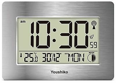 Radio Controlled LCD Wall Mountable and Desk Silent Clock ( UK & Ireland Version