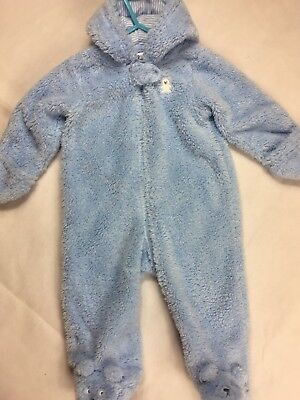 2e6554101eea BABY SNOWSUIT SOFT Faux Fur Hooded All In One Snow Suit Romper ...
