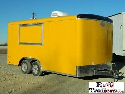 8.5 x 16 16ft Concession Catering Food Snow Fair BBQ Enclosed Car Trailer DFW